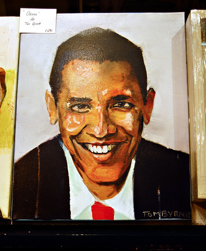 Obama by Tom Byrne - available in the Apollo Gallery, Dawson Street.
