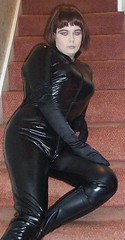 black catsuit 07 (Jenni Makepeace) Tags: wales female tv cd bbw tgirl transgender transvestite welsh trans catsuit pvc fromwales