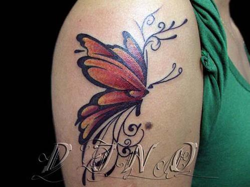 Tattoo Butterfly,Tatuaje Mariposa,Tatuagem Borboleta