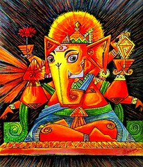 GANESH PAINTING - Artist ANIKARTICK (Artist Anikartick 'invites You..') Tags: horse art classic illustration portraits painting demo sketch ganesha artist drawing paintings canvas entertainment animation watercolour classical portfolio chennai photoart tamilnadu a
