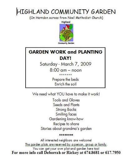 Highland Community Garden March 2009 work day-1