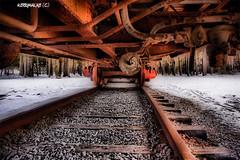 Ridin' The Rails (Kerry 77) Tags: snow train canon wheels traintracks tracks railway hdr xsi ridingtherails mwqio