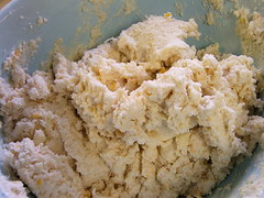 Cheddar and Garlic Drop Biscuit Dough