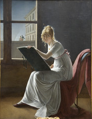 Young Woman Drawing, 1801 (Maulleigh) Tags: art museum painting french met metropolitan villers 1801 mariedenise