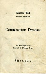Commencement Program (2) ~ 1937