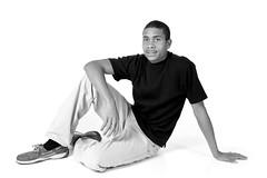 Nephew (danny.tucker85) Tags: portrait blackandwhite bw white black umbrella nikon flash sb600 teen nephew 600 800 sb d3 cls sb800 strobist su800 dwebstert