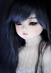 Nene in her new wig (Linda Leow) Tags: yumi nene royalblue elfdoll leekewig