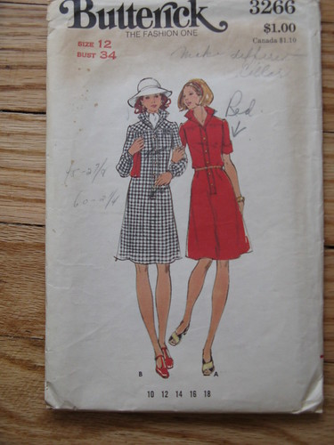vintage pattern-shirtdress