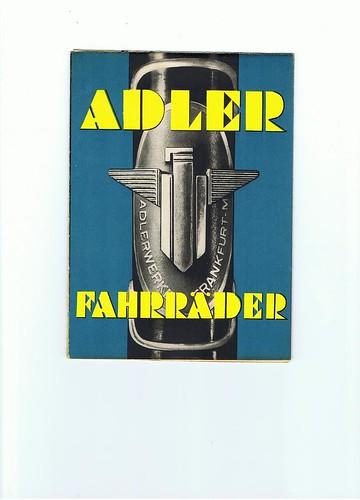 Adler bicycles 1937