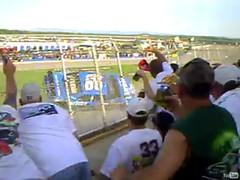 Carl Visits the Grandstands (zzazazz) Tags: from fence screenshot view shot crash lap final carl nascar wreck edwards amateur stands talladega