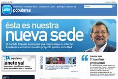 La nueva web del PP