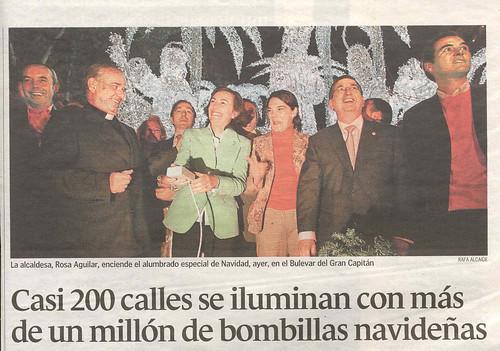 Inauguración Alumbrado Navideño 2006 en Córdoba