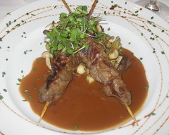 Rosemary's in Las Vegas - Beef Kabob with sauteed mushroom