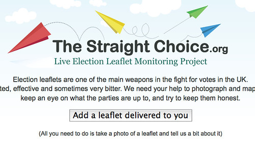 Screenshot from The Straight Choice website