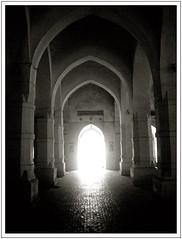 Alo Ashbei......there will be a light.... (chhayapath :-)) Tags: old light shadow bw white black color building brick history hope lights day pillar rise pillars bangladesh bangla contrajour pellar bagerhat chhayapath