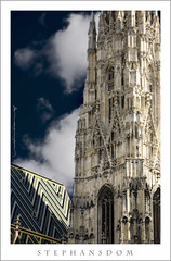 God is in the Details! (Rex Maximilian) Tags: vienna wien tower church architecture clouds austria europe exterior cathedral gothic stephansdom romanesque osterreich ststephens tileroof