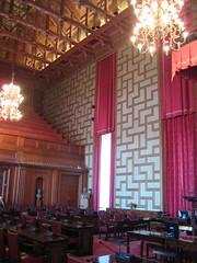 La salle où se tient le conseil