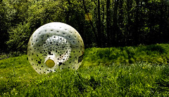 Zorbing (Raj Tailor) Tags: ball 300d hill down downhill surrey roll excitement rolling zorbing zorb adrenalin sphereing rajtailor