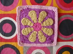 (alliandra) Tags: flower square crochet daisy granny
