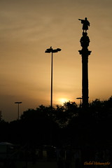 Hola Barcelona (DulichVietnam360) Tags: barcelona sunset spain espagne barcelone honghn statueofchristophercolumbus tybannha holabarcelona dulichvietnam360