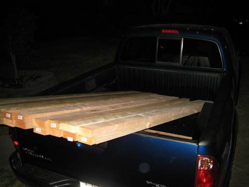 2x4s and plywood in my new truck