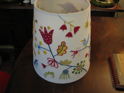 the beautiful embroidered lampshade