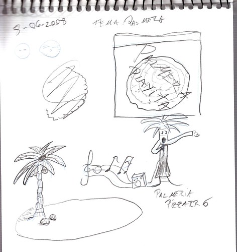 Mi memoria en dibujos 25 (P, Palmera)