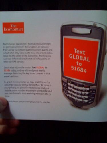 Economist SMS ad part 2