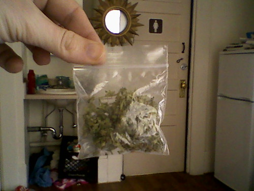 Newest photo →; bag of weed; ← Oldest photo
