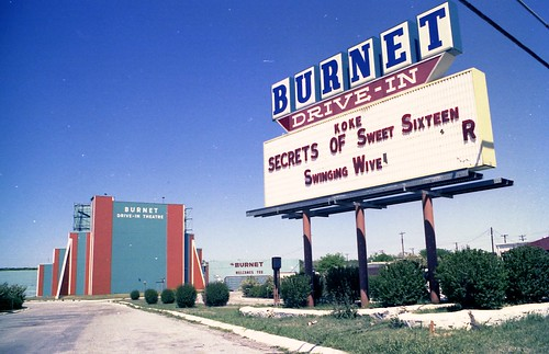 Marquee of the Burnet Drive-In, by paramountbooth on Flickr