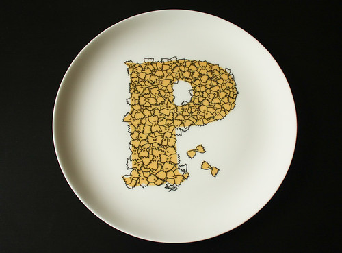 P plate in colour