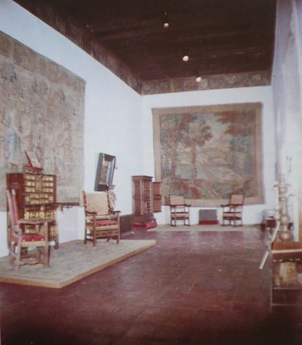 Palacio de Fuensalida en 1979. Salón grande de la planta alta. Cubierta de par y nudillo.