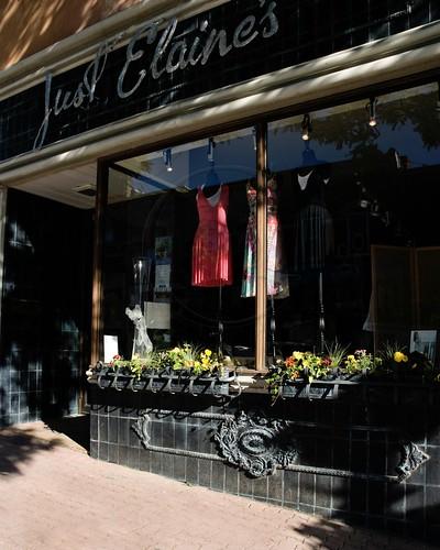 Orillia Downtown - Just Elaine's excellent clothing shop.