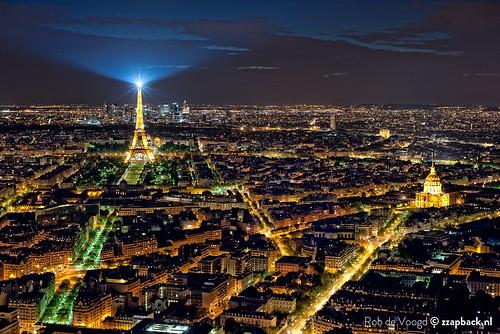 Paris de la Tour Montparnasse / Tour Eiffel / Eiffeltoren