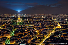 Paris de la Tour Montparnasse / Tour Eiffel / Eiffeltoren (zzapback) Tags: city light panorama paris france tower robert night 50mm nikon long exposure day tour view nacht f14 arc triomphe eiffel panoramic rob your le invalides enjoy frankrijk montparnasse defense parijs stad voogd eiffeltoren d700