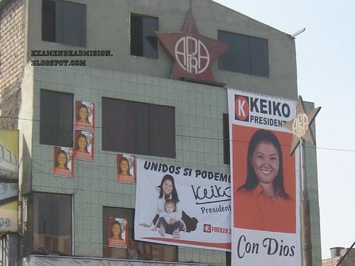 APRA hace campaña por Keiko Fujimori