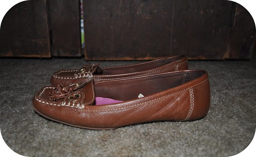Brown and Gold Loafers
