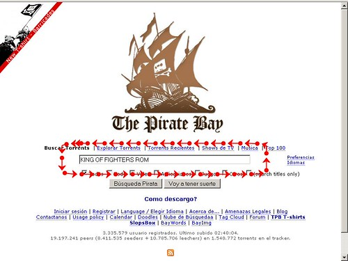 Buscando torrents en piratebay.org