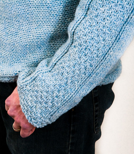 Woven Bands Pullover - Sleeve Cuff detail