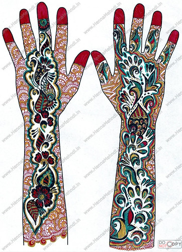 Simple Arabic Mehndi Designs: henna mehndi designs11