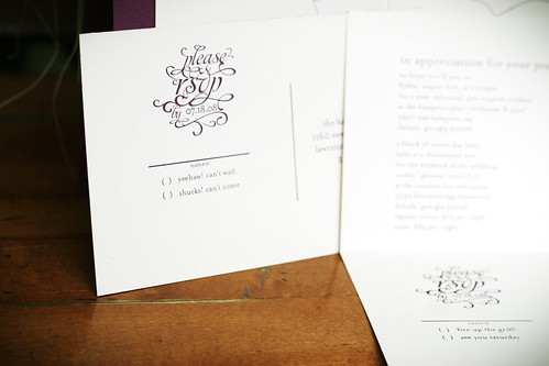 Invitations | RSVP card detail