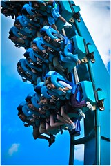 looking down! (kevkev44) Tags: blue closeup orlando ride upsidedown florida action rollercoaster seaworld coaster kraken fastshutterspeed orlandoflorida seaworldorlando nikond60 krakencoaster krakenseaworld