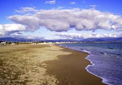 Poetto (vanserr) Tags: sardegna winter sea beach clouds nuvole mare inverno spiaggia cagliari poetto blueribbonwinner bagnasciuga maredinverno beautifulexpression vanserr panoramafotogrfico tagpoetto
