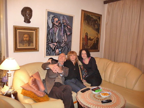 Left: Dad, wife Jarmila, sister Martina