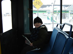 Josh on the bus