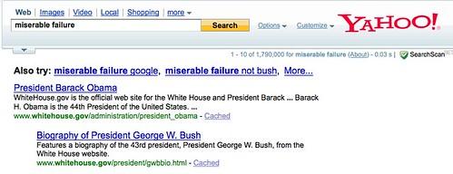 Yahoo - Miserable Failure