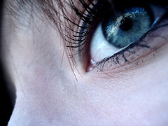 (snivellus greasy) Tags: blue light eye pretty skin pale mascara eyeliner