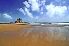 Kemasik Beach Part 1 (Firdaus Mahadi) Tags: sky cloud reflection beach water rock clouds digital reflections landscape sand scenery views malaysia awan ultrawide minimalist batu pantai kemasik terengganu pasir langit pemandangan uwa minimalis kemaman pantaikemasik visitterengganu kemasikbeach tokina1116mmf28 firdausmahadi firdaus