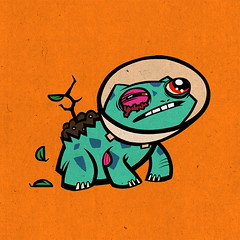 #001 bulbasaur (jublin) Tags: anime japanese cartoon pokemon monsters pocket bulbasaur