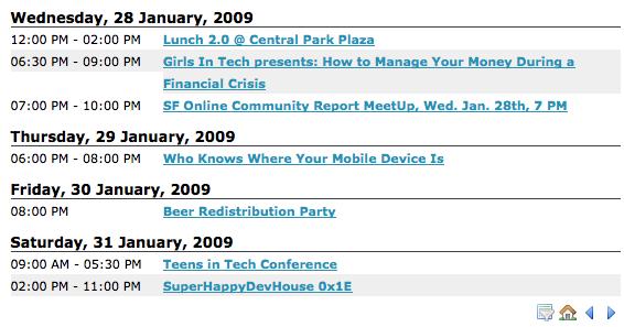 Social Calendario Parties